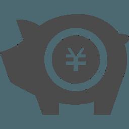 積み立て豚貯金箱のアイコン